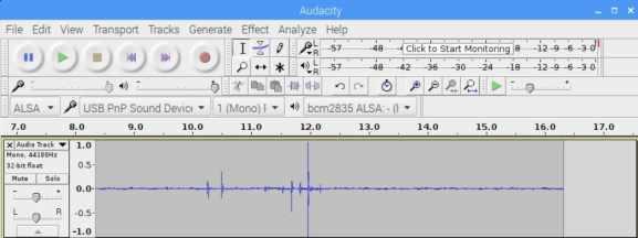 audacity - Cómo añadir un micrófono a Raspberry Pi