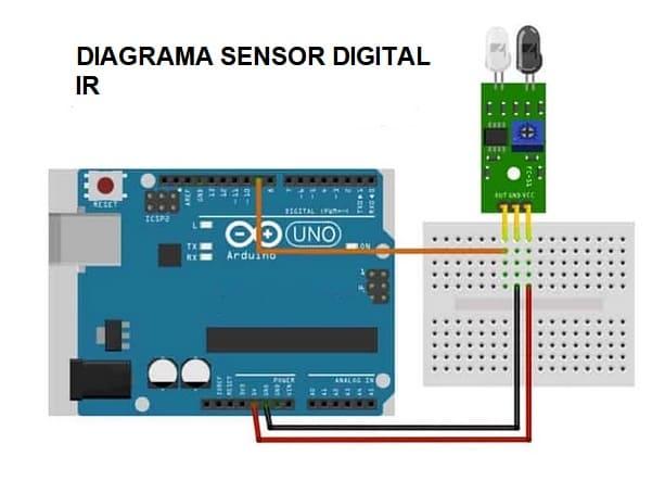 diagrama sensor digital IR - Electrogeek