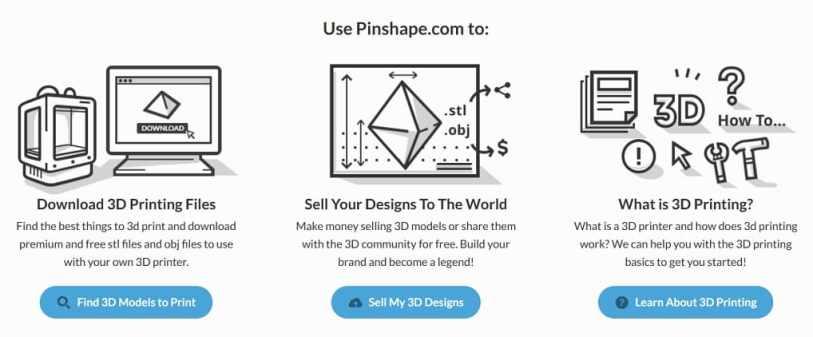 pinshape - Las mejores alternativas a Thingserve para impresión en 3D