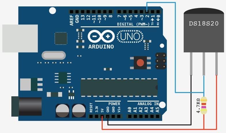 como conectar Arduino a DS18B20 - Cómo medir las temperaturas con DS18B20 y Arduino