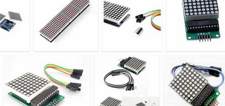 MAX7219 Pantalla de matriz de puntos LED