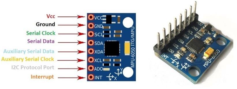 mpu6050 PIN out - MPU6050, Diagrama de pines, circuito y conexión con Arduino