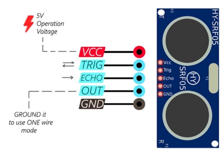 hy srf05 pinout - Controla tu PC con el sensor ultrasónico HC-SR04 y Arduino
