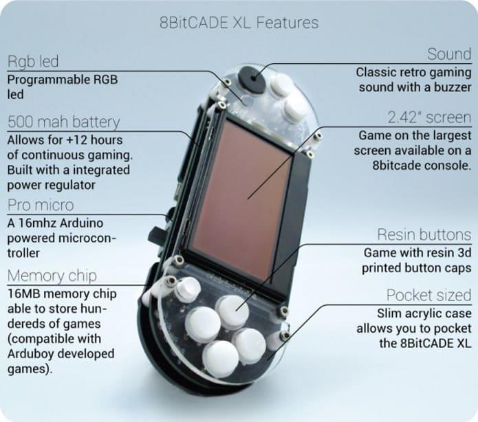 consola aprender a programar - 8BitCADE XL DIY kit de juego educativo Hazlo Tu Mismo