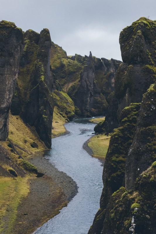 Cañón Frádrargljúfur en el sur de Islandia