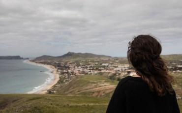 Anna en el Mirador da Portela de Porto Santo
