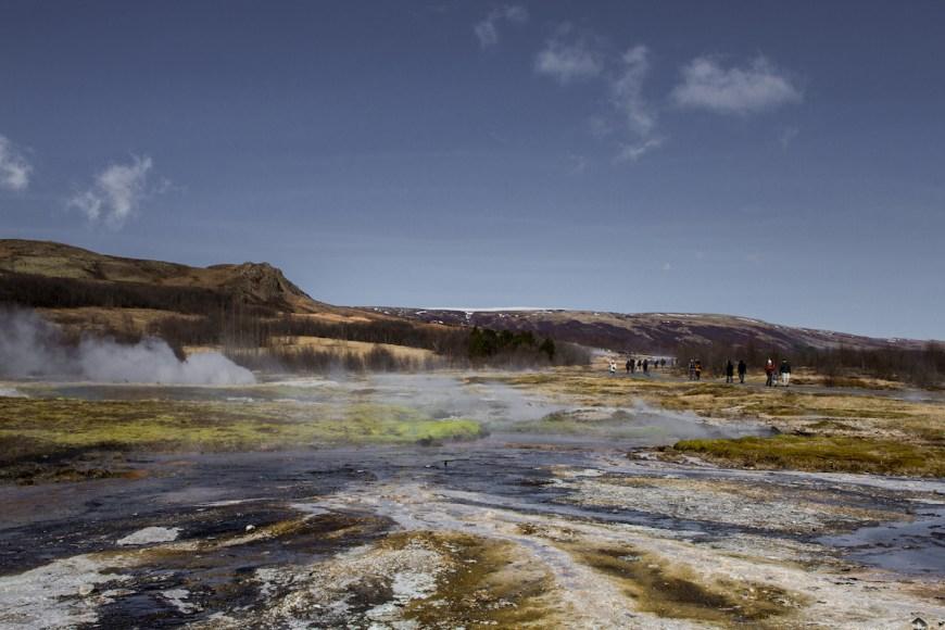 Geysir Islandia en el circulo dorado