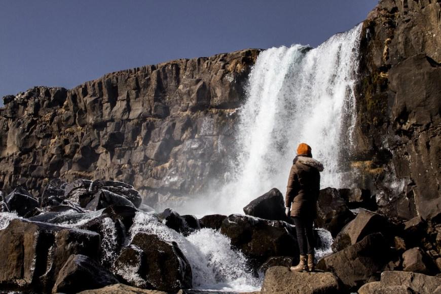 Cascada Öxarárfoss en Islandia