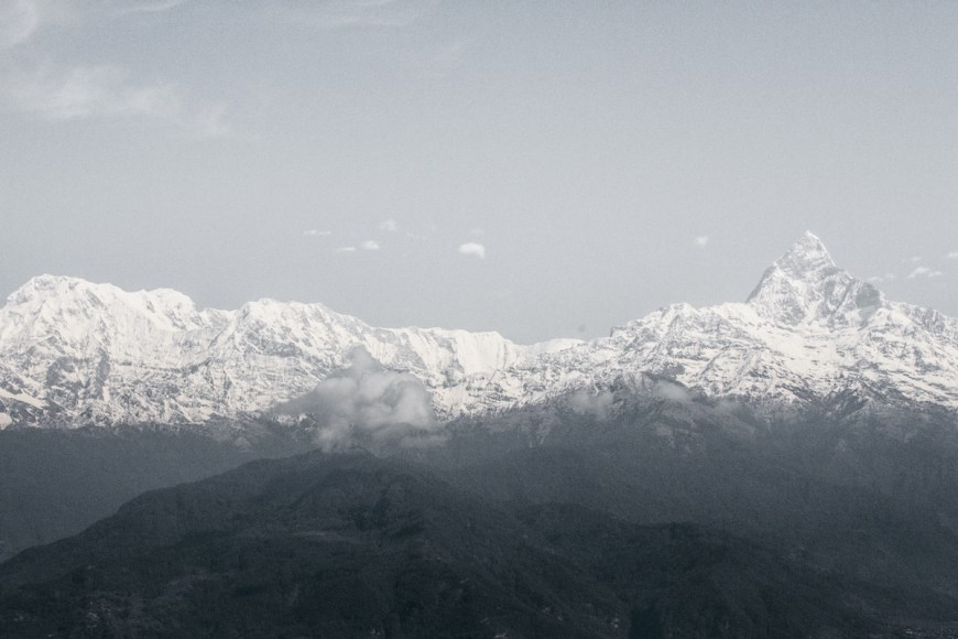 Cordillera de los himalayas vista des del Sarangkot, Nepal