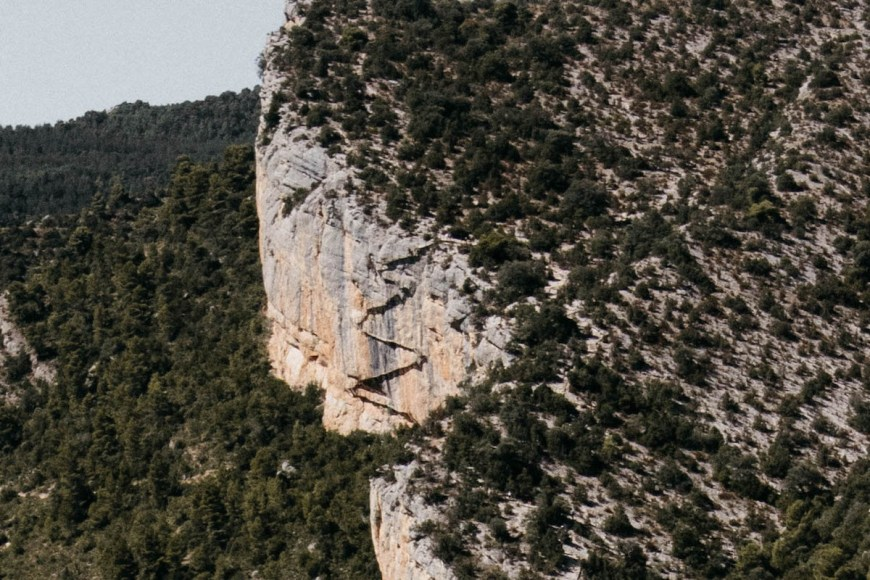 Pasarelas de Montfalcó en el Congost de Mont Rebei, Pallars Jussà