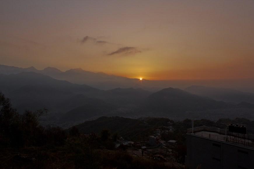 Amanecer en el Sarangkot, Nepal