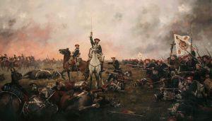 Escena de la Primera Guerra Carlista, por Ferrer Dalmau