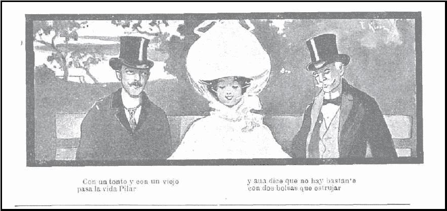 Ilustración de un número de Sicalíptico de 1904