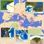 Mapa del proyecto Atlantropa (en alemán)