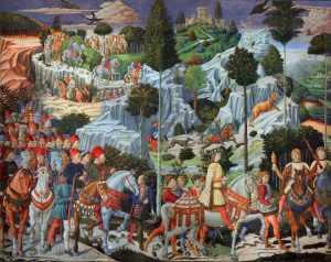 Fresco de Benozzo Gozzoli para la Capilla dei Maggi del Palazzo Médici-Riccardi.