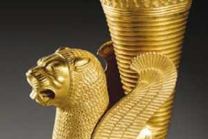 La exposición Irán, cuna de civilizaciones recoge dos centenares de piezas procedentes del Museo Nacional de Irán, con sede en Teherán.