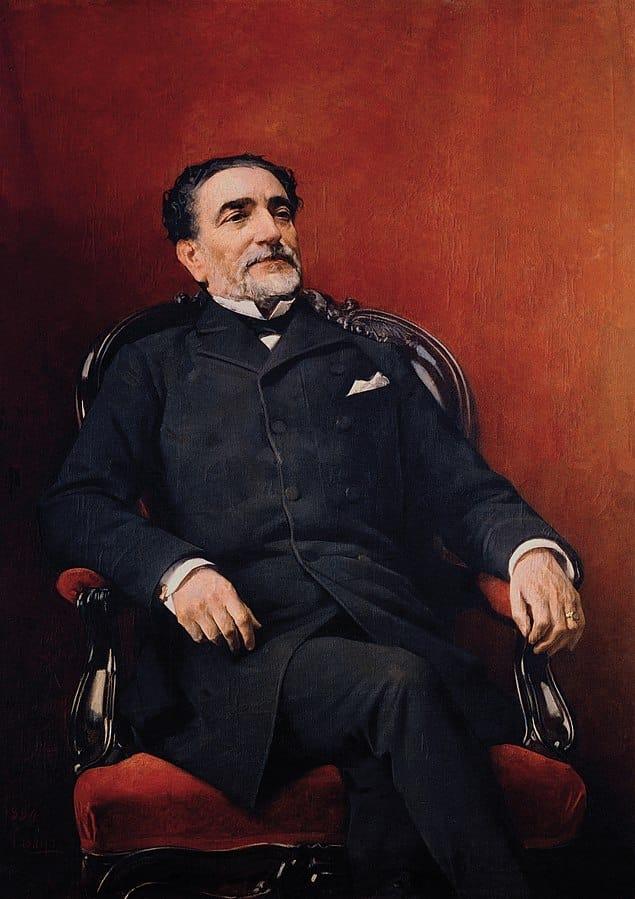 Práxedes Mateo Sagasta 1884. J. Casado del Alisal. Congreso Diputados