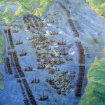 Batalla de Lepanto, de Fernando Bertelli, localizada en la Galería de los Mapas de los Museos Vaticanos (Wikimedia).