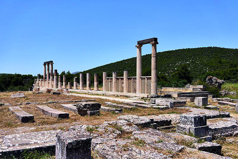 Restitución arquitectónica realizada en el santuario (Wikimedia).
