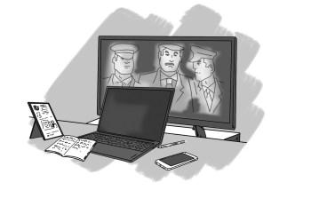 'El análisis de los historiadores también abarca problemas que nos afectan hoy'. Ilustración de Jesús Sánchez Daimiel.