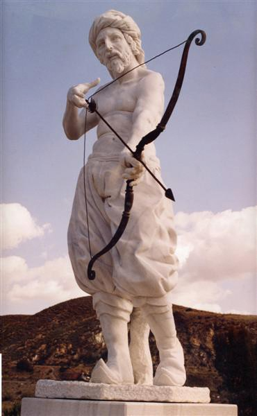 Abén Humeya. Escultura de Roberto Manzano (2000). Purchena.