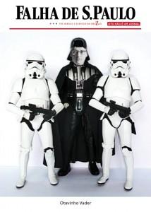 O logotipo proibido e Otavinho Vader, uma de nossas fotomontagens originais