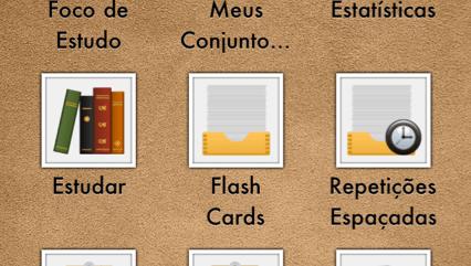 imagem da pagina inicial do aplicativo, com 9 icones representativos quanto a cada função do aplicativo.