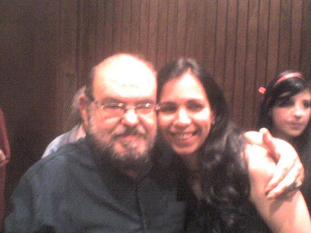 Com Mojica, na Mostra José Mojica Marins - 50 Anos de Carreira.
