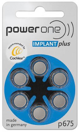 imagem do pacote de 6 pilhas redondas para implante coclear