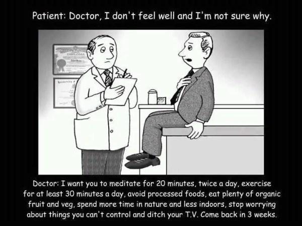 Probably what doctors would prescribe more often if not pressured by pharmaceutical companies ...