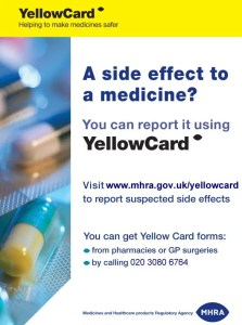 The Yellow Card Scheme:  Reporting Medicine Side Effects
