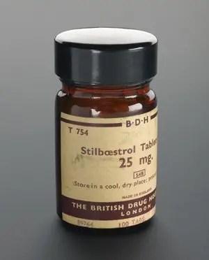 image of a Stilboestrol-25-mg bottle