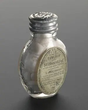 image of a Stilboestrol-1-mg bottle