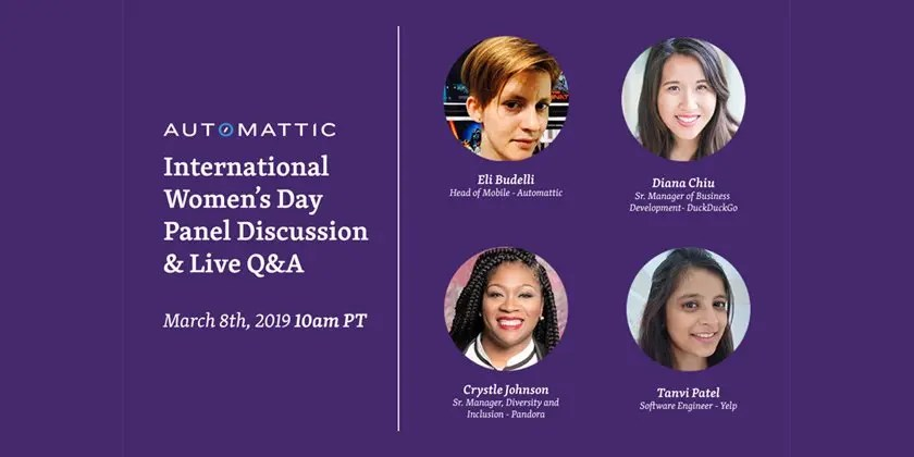 Join WordPress.com for an International Women's Day Livestream Panel