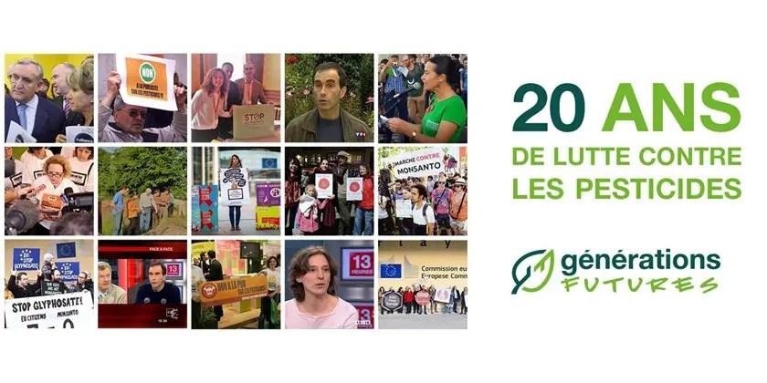 """""""Générations Futures"""" : c'est 20 ans de lutte contre les pesticides !"""