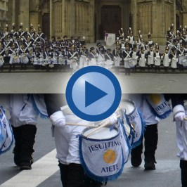 Tamborrada San Sebastián 2015 desde dentro (Colegio Jesuitinas)