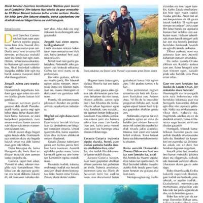 Entrevista Periódico Txintxarri (08/02/2016)