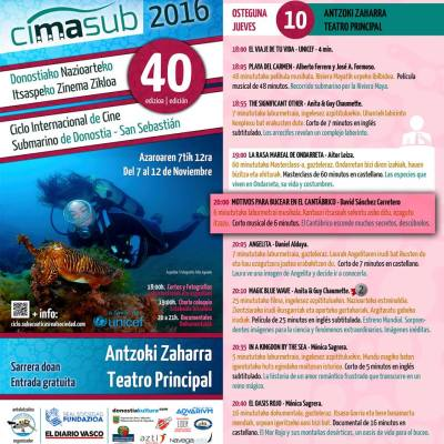 Programa del Jueves del CIMASUB 2106
