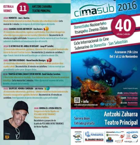 Programa del Viernes del CIMASUB 2106