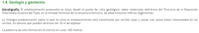geotecnia del ATC, villar de Cañas, almacén temporal centralizado, ATC, geotecnia, geología, yesos, sísmica.