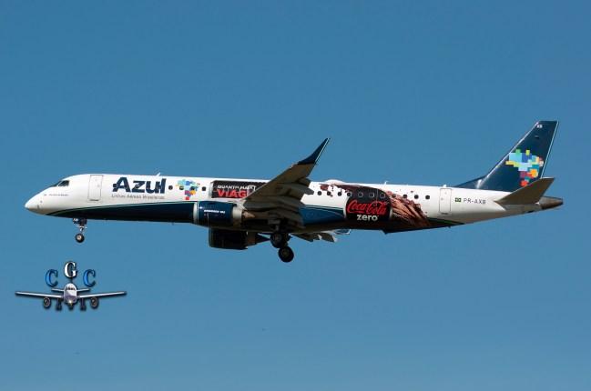 El particular diseño de los Embraer de AZUL Linhas Aéreas