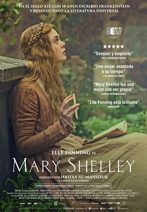 Mary Shelley - cartel de cine