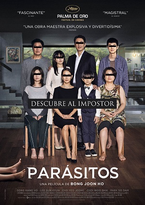Parásitos - cartel de cine