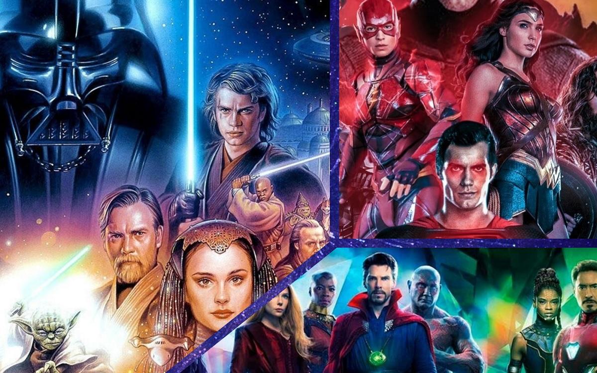 Universos DC, Marvel y Star Wars