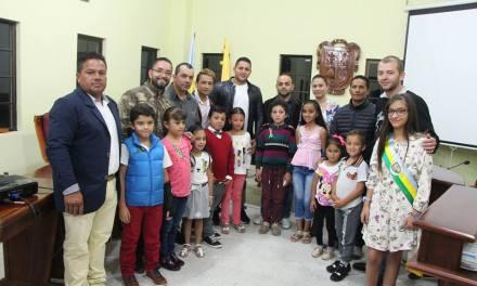 En el recinto del Concejo Municipal se posesionó el Concejo Infantil