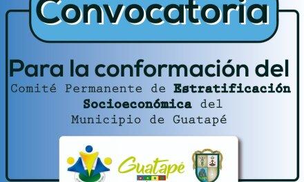 Se amplía convocatoria del comité permanente de estratificación