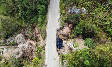 Avanzan las obras de intervención vial en la vereda Quebrada Arriba