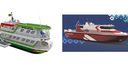 Un barco y una lancha ambulancia proyectos de seguridad del embalse Peñol – Guatapé