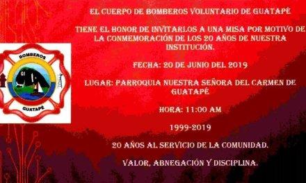 Bomberos voluntarios del municipio de Guatapé, 20 años al servicio de la comunidad