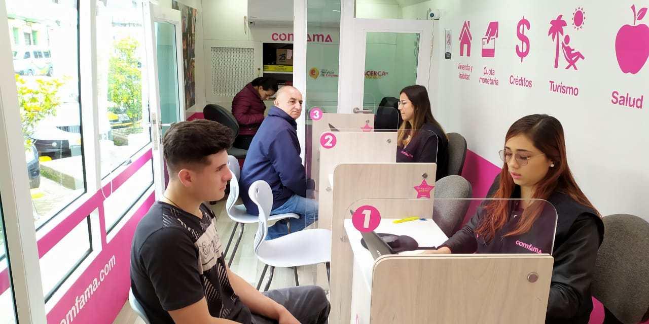 El aula móvil del empleo y emprendimiento de Comfama esta en nuestro municipio